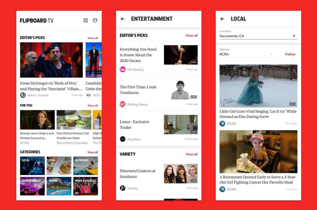 Flipboard and Ad-Free Curated Video Service