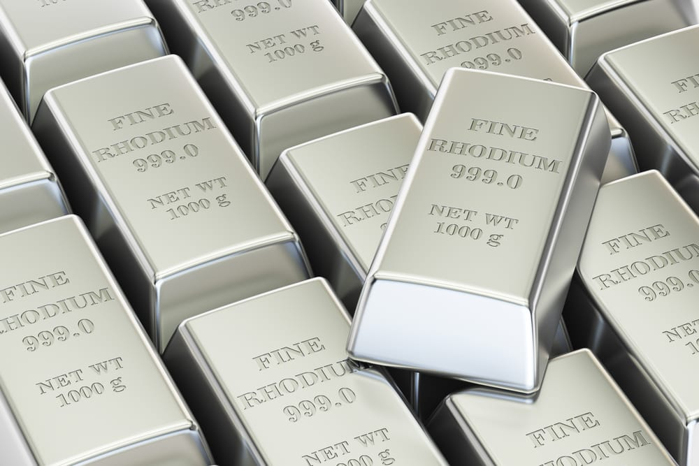 Price drop of rhodium is temporary and may rebound soon