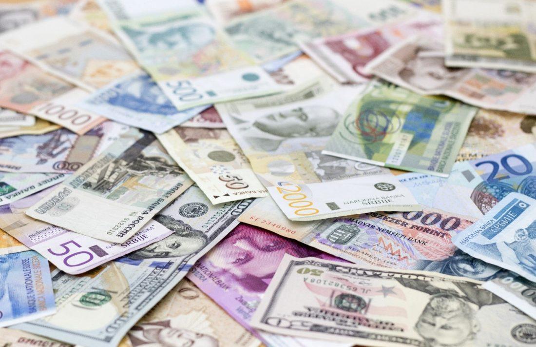 Dollar, pound and Euro