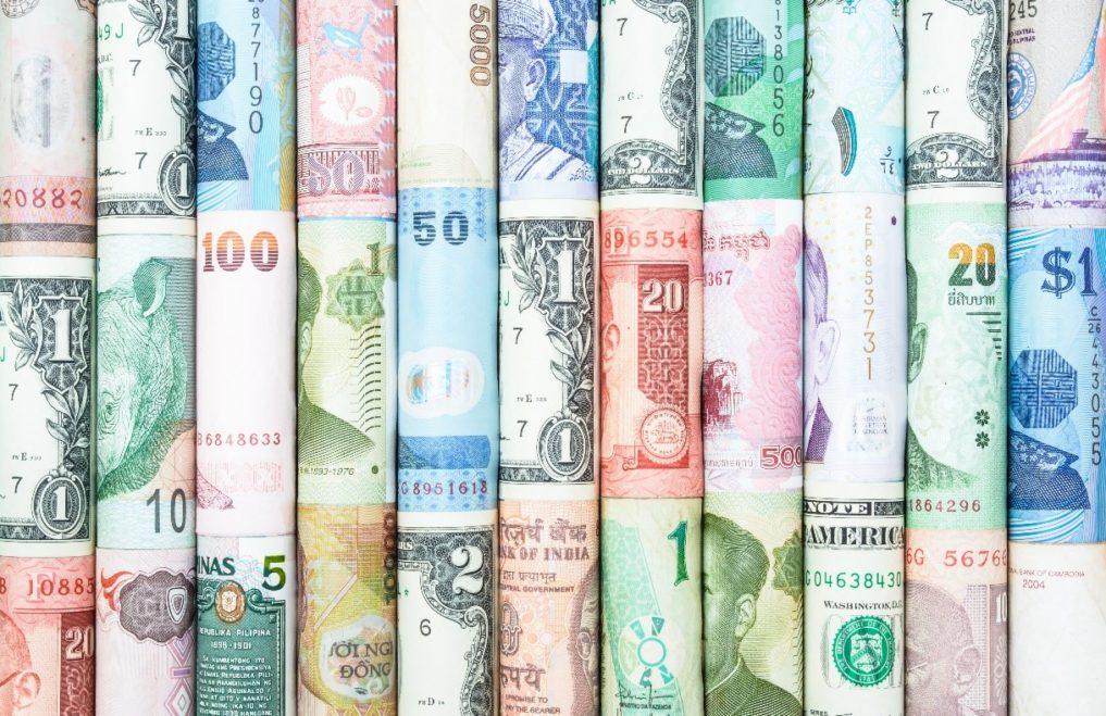 dollar, euro, sterling