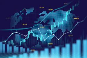 Stock market graphs. S&P 500. msci world index