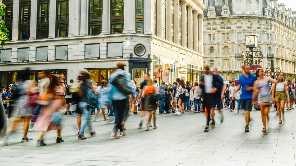 people on street in uk