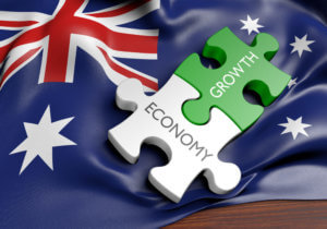 Australia economy and financial market growth concept