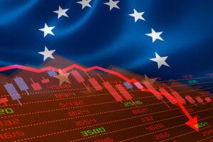european flag and stock market